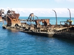 Artificial reef with boat
