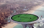 Tennis match from the sky